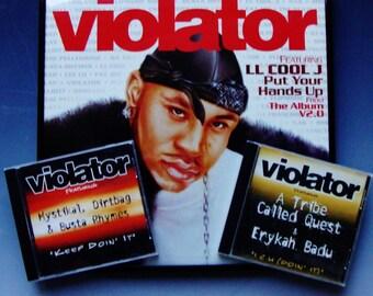 LL COOL J Rap Classic Vinyl Record 2 CDs Framed Violator Label HipHop Wall Art, Tribe Called Quest Mystikal Dirtbag Busta Rhymes Erica Badu