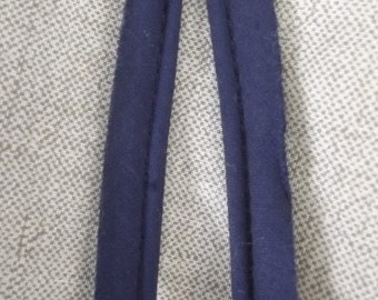 50 Yards Vintage Blue Cotton Piping Fabric Sewing Trim Notion