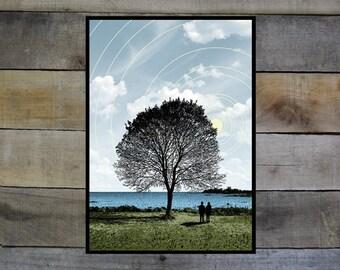 """Tree and Couple - 5""""-7"""" Giclée Print"""