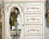 Painted Cottage Chic Shabby Romantic French  Dresser LGCH22