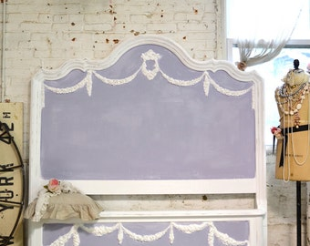 Painted Cottage Shabby Farmhouse Romantic Bed Queen / King HKBD06