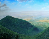 Scenery Paintings, Artwork for sale, buena vista oil painting, blue ridge parkway, realistic oil painting,realism art,realism paintings