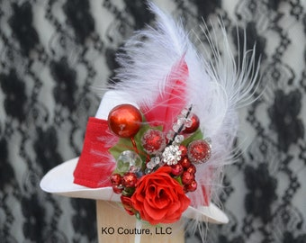 Top Hat Fascinator, Christmas Winter