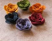 Quilters Bouquet - 3D Rolled Roses Large - 12 Die Cut Wool Blend Felt Flowers - Unassembled Rosettes