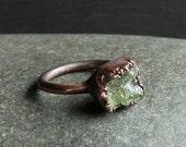 Garnet Ring, Copper Garnet Ring, Gemstone Ring, Birthstone Ring, January Ring, Size 6.5 Ring, Raw Stone Ring, Statement Ring, Crystal Ring