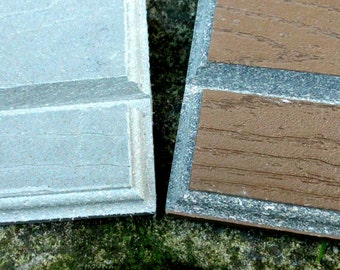 Free Shipping- Display Base for 12x6 or 12x8 tile plaques- Weatherproof