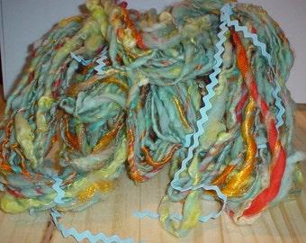 Handspun Wool Yarn Art Yarn - Koi Pond - 50 Yards