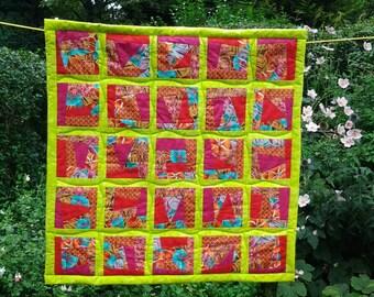 Patchwork quilt, handmade quilt,art quilt,homemade quilt,wallhanging