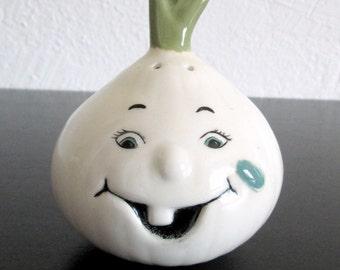 Anthropomorphic Onion Vintage Ceramic Shaker