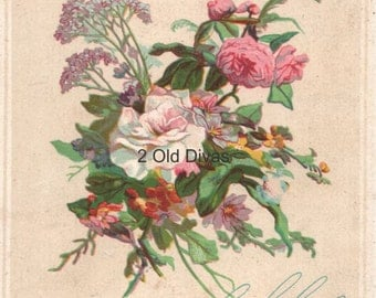 Vintage Style 1900s French Perfume Label Decals SHABBY ROSES