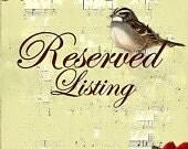 Reserved listing for Leslie Gomez
