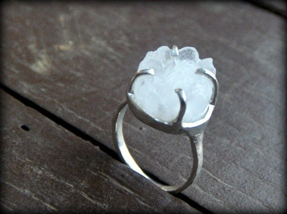 non traditional engagement or promise ring made to