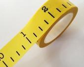Yellow Ruler Washi Tape Yellow Tape Measure Paper Tape
