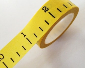 Yellow Ruler Washi Tape Yellow Tape Measure Paper Tape