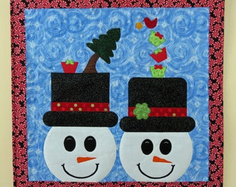 Mr. & Mrs. Snowflake Wall Hanging Pattern QCP-107