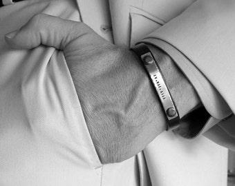 Bracelet pour homme personnalisé, cadeau d'anniversaire pour homme, marié, garçons d'honneur cadeau, personnalisé Bracelet homme, Bracelet homme, anniversaire pour homme, palefreniers cadeau