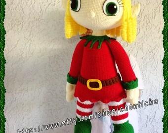 ELF girl 32 inches - PDF amigurumi crochet pattern