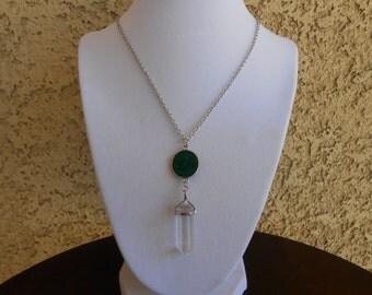 "Crystal Quartz ""Life"" Necklace"