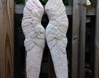 Pink Angel Wings Pair Religious Romantic Nursery French Shabby Cottage