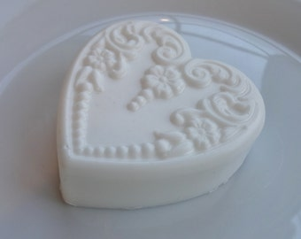 White Gardenia Victorian Heart Soap