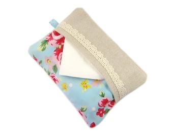 Travel Tissue Case, Tissue Cozy, Pocket Tissue Holder, Pretty Tissue Case, Stocking Stuffer