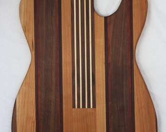 Guitar - Fender Telecaster shaped cutting board made to order