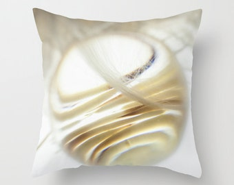 Minimalistic Decor - Hostess Gift // Throw Pillows Cover in neutral colors, printed on both sides - Abstract print, quills