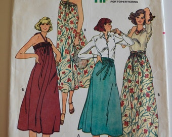 Butterick 6140 Misses Skirt or Dress Size 6 UNCUT