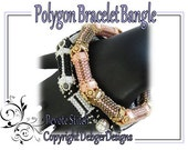 Polygon Bracelet Bangle - Beading Pattern Tutorial