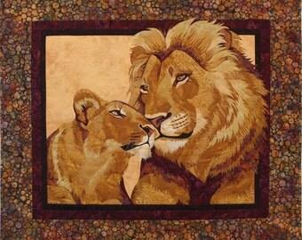 Endless Love Lions Toni Whitney Fusible Applique Quilt Pattern