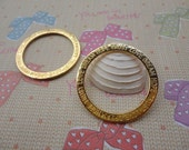 20pcs 35mm diameter  Rings Circle Gold Color Retro Pendant Charm For Jewelry Pendant