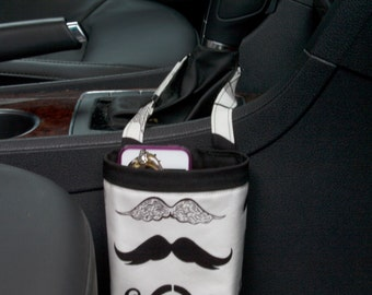 CAR CELLPHONE CADDY Mustaches, Alexander Henry Where's My Stache? Women, Auto Accessories, Mobile Accessories, Sunglass Holder,  Beach Chair