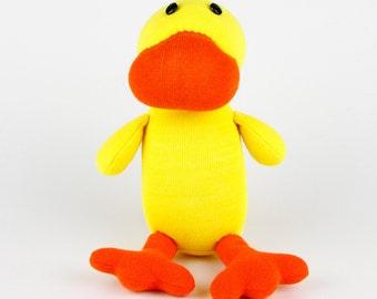 Adorable Plush Toys Handmade Sock Skiing Duck Stuffed Animal Doll Baby Toys