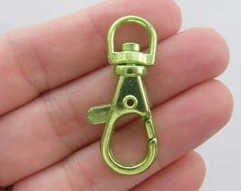 BULK 10 Green lobster swivel clasp 40 x 17mm