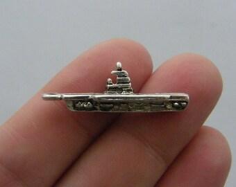 BULK 50 Ship charms tibetan silver TT46