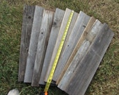 Reclaimed Old Fence Wood Boards - 10 Fence Boards - 24 Inch Length - Weathered Barn Wood Planks Good Condition - Great For Rustic Crafting!