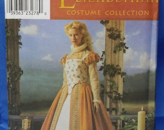 Sewing Pattern Simplicity 8881 Elizabethan Shakespeare in Love Bodice Skirt Underskirt Multi-Sized 6, 8. 10, 12 Uncut Unused Free Shipping