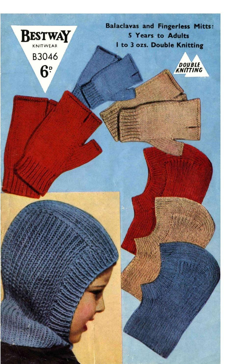 Knitting Pattern For A Balaclava