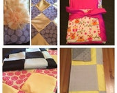 Upcycle Your Bridesmaid Dress into a Patchwork Baby Blanket bridesmaid dress blanket quilt