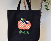 Trick or Treat Bag Canvas Bag Personalized Halloween tote Pumpkin Mummy Ghost Girl or Ghost  Boy Monogrammed Name