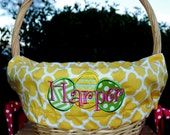 Deluxe Easter Basket liners with eggs for Girls or Boys Easter Basket Personalized with name NEW This Year