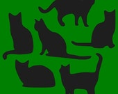 LITTLE CATS STENCIL 6x6 Make Your Own Primitive  Kitty Cat Signs Decorations Tags and More Hafair
