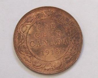 1918 Canadian Large Cent