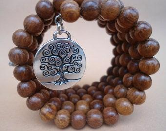 Tree of Life  Pagan Prayer Beads Mala Bracelet 108 Bead Mala Bracelet  Tree Of Life Charm  Japa Mala  Wiccan Prayer  Bead Bracelet  Wicca