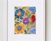 Abstract Floral Painting set of 2