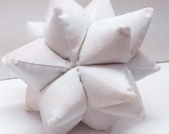 white pillow-velvet pillow-star pillow-handmade-personalized-shaped pillow-kids decor-solid throw pillow-accent pillow-nursery decor