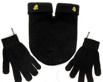 BEE Mine Couples SMITTEN (for holding hands when its cold outside) GLoves and Smitten Card Included, Share your mitten, Free Shipping USA
