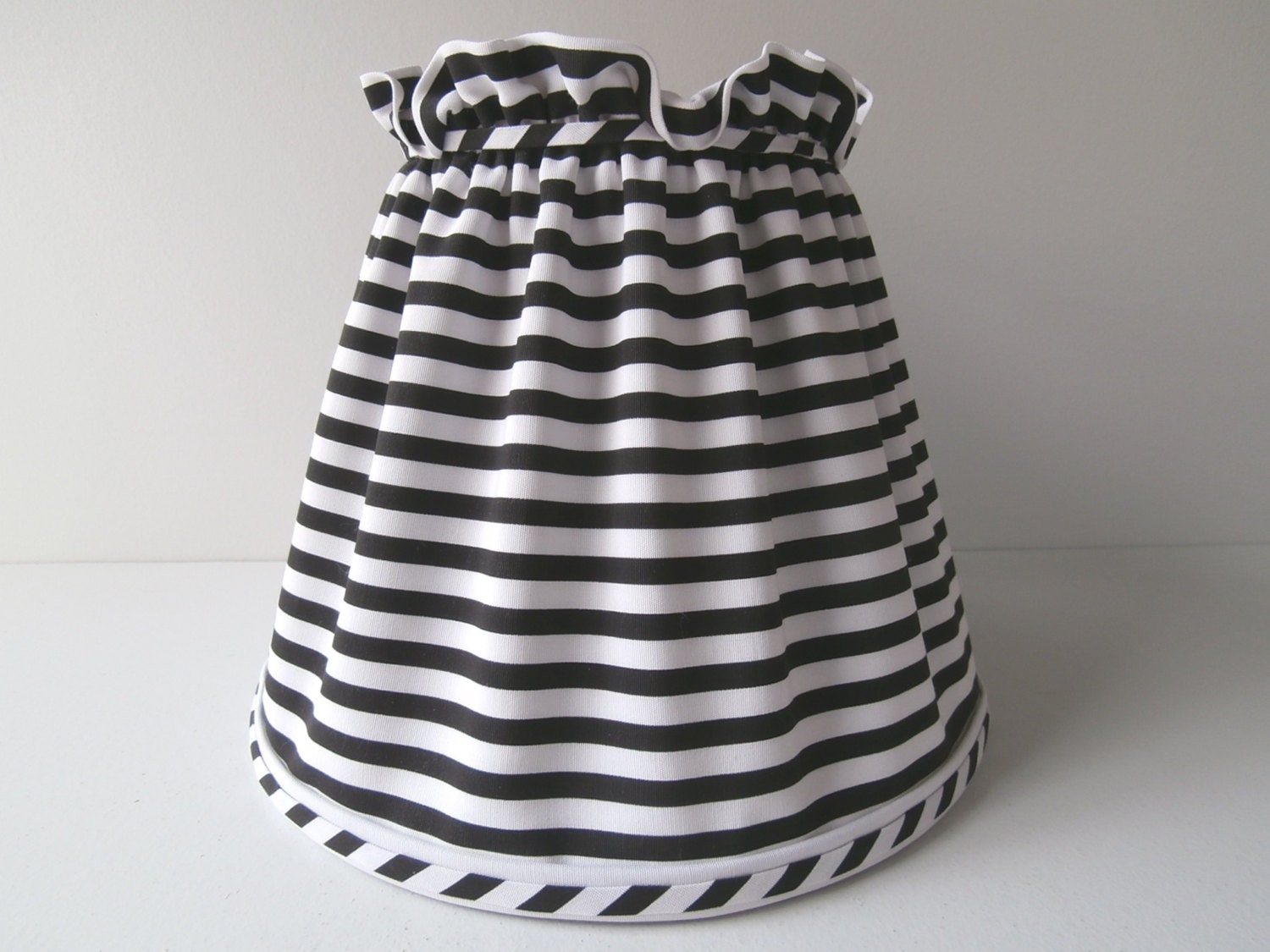 Chandelier Lamp Shade in Black and White Gingham Check with   Black And White Lamp Shades