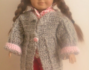 18 inch doll sweater and hat