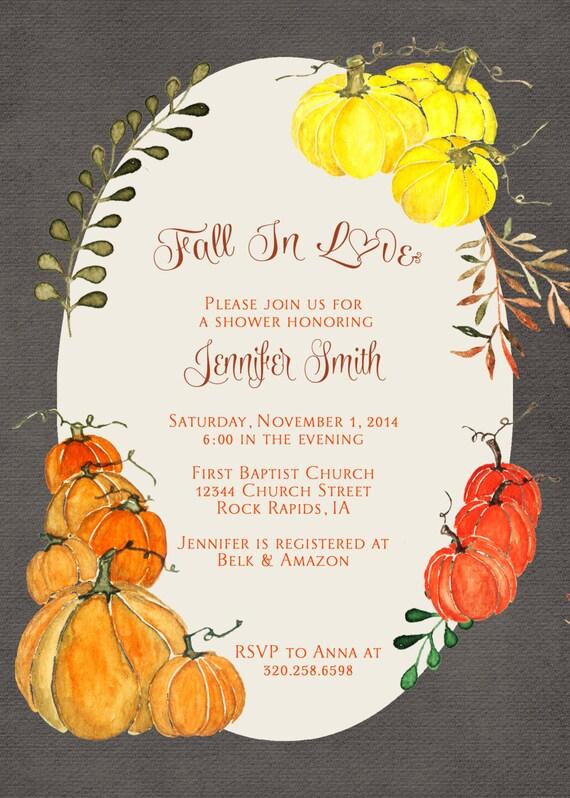 herbst bridal shower einladungen party einladung geburtstag, Einladung